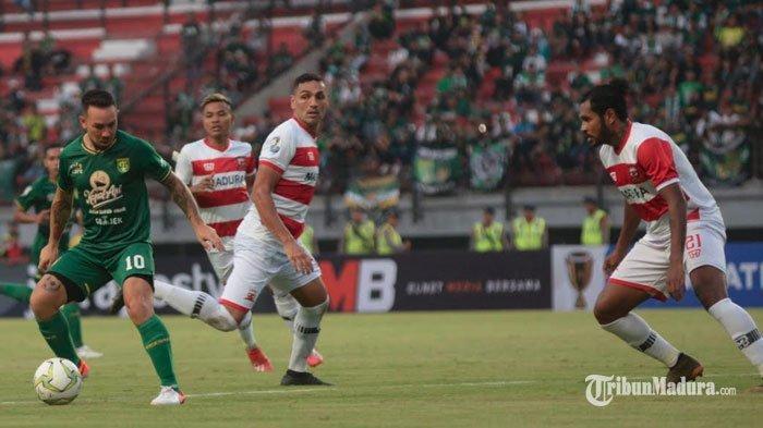 Hasil Babak PertamaMadura United Vs Persebaya Surabaya, Laskar Sapeh Kerrab Ungguli Bajul Ijo