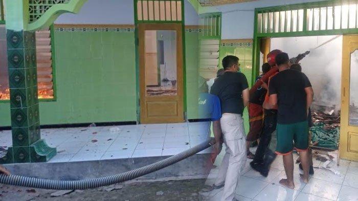 Kebakaran Masjid di Pamekasan Gegerkan Warga, Bermula dari Kobaran Api yang Membesar di Sisi Masjid
