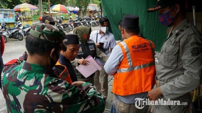 Klaster Transmisi Lokal Dominasi Penyebaran Covid-19 Bangkalan, Tim Yustisi Sasar Pasar Tradisional