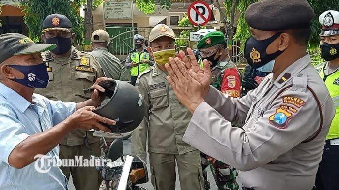 Polres Pamekasan Gelar Operasi Yustisi Jaring Pelanggar yang Didominasi Tak Memakai Masker