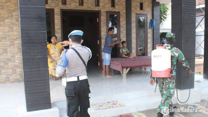 3 Desa diKecamatan Proppo DisemprotDisinfektan,Kodim Pamekasan Datangi Rumah Warga Satu Per Satu