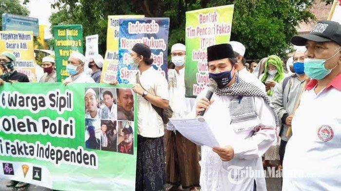 Massa Pergerakan Umat Islam Kediri Raya Tuntut Dibentuk TPF Independen Kasus Penembakan 6 Laskar FPI