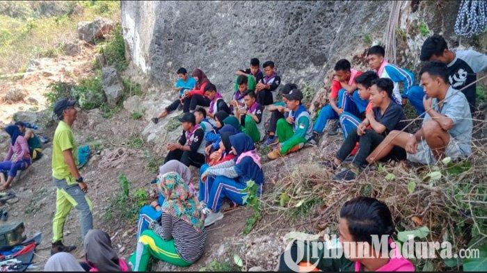 Pegiat Alam seJatim Ikuti East Java Rock Climber Digelar di Tebing Alam Mahawaru Cokgunung Pamekasan