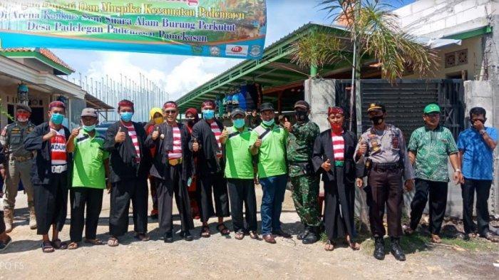 Anggota Polsek Pademawu Pamekasan Lakukan Pengamanan Lomba Burung Seni Irama Perkutut Piala Bupati
