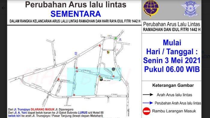 Perubahan Arus Lalu Lintas di Jember Kota, Diterapkan Mulai Hari ini, Simak Peta Lengkapnya di Sini