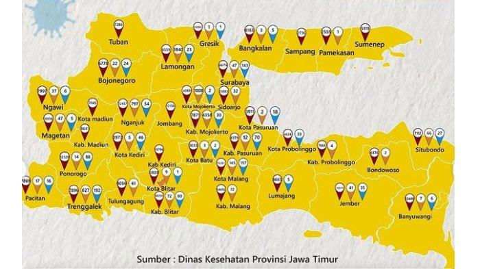 Per 15 September 2021, Seluruh Wilayah Jatim Masuk Zona Kuning Risiko Rendah Penyebaran Covid-19