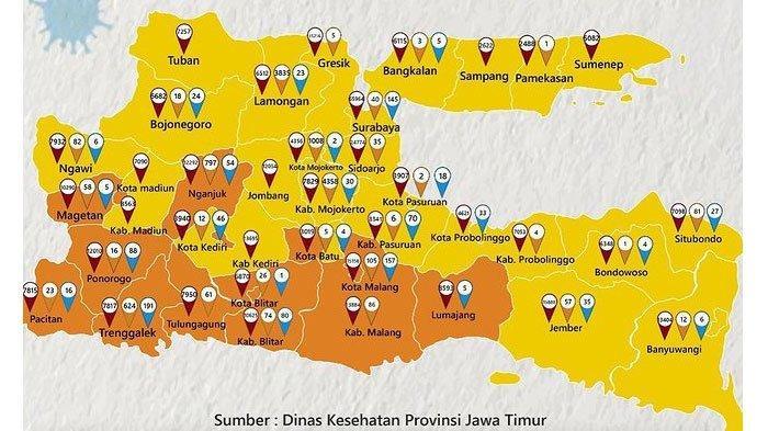 Daftar Zona Kuning di Jatim, Surabaya - Banyuwangi Risiko Rendah Covid-19, Malang Masih Zona Oranye