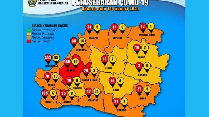 Kecamatan Burneh Masuk Zona Merah Covid-19 di Bangkalan, Jadi Penyumbang Terbanyak Pasien Covid-19