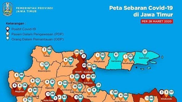 Update Virus Corona di Jawa Timur, Ada Tambahan 11 Pasien Positif Covid-19, Simak Rincian Datanya