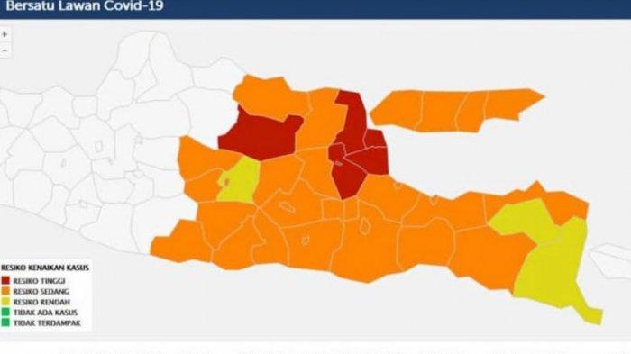 Zona Merah Jatim Tersisa 6 Daerah, 3 Kabupaten Masuk Zona Kuning, Khofifah Optimisme Tekan Covid-19