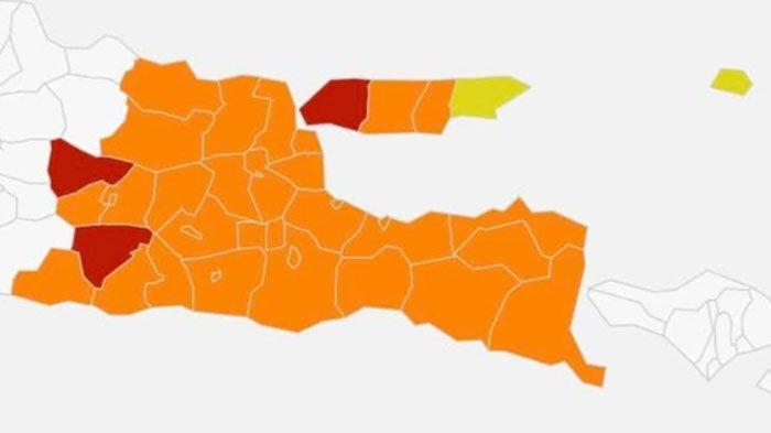 Susul Bangkalan,Ponorogo dan Ngawi Masuk Zona Merah Covid-19 di Jawa Timur Mulai Hari ini
