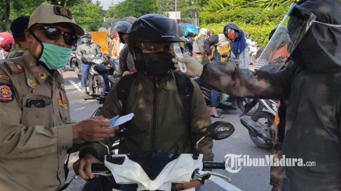 Dua Hari Penerapan PSBB Surabaya Jilid 2, Masih Banyak Pengendara Langgar Aturan