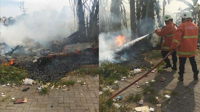Bermula dari Sampah yang Dibakar, Sebuah Kandang Kebakaran dan Tiga Ekor Kambing Ikut Terpanggang