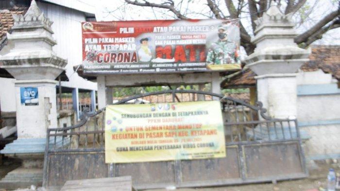 BREAKING NEWS - Pasar Hewan di Desa Ketapang Daya Sampang Ditutup Selama PPKM Darurat