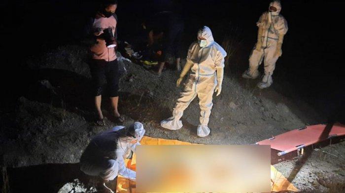 BREAKING NEWS - Mayat Pria Tanpa Identitas Mengapung di Kubangan Air Bukit Jamur Bungah Gresik