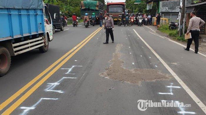 Kecelakaan di Mojokerto, Pengendara Sepeda Motor Tewas Tergilas Tronton, Kondisi Korban Mengenaskan