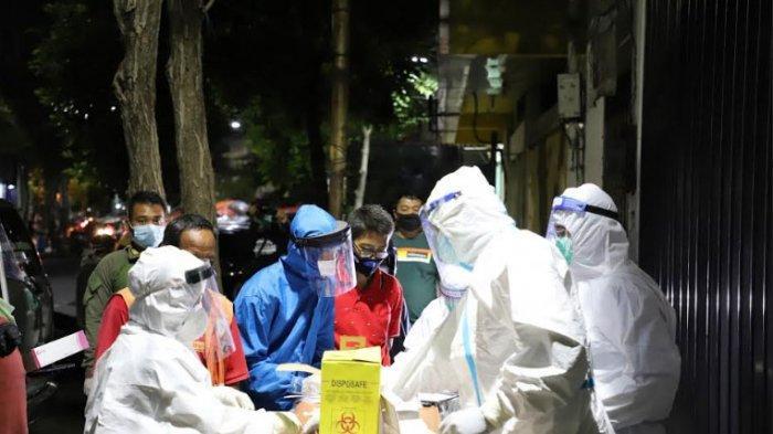 Rapid Test Dadakan di Jalan Genteng Besar Surabaya, 6 Orang Dinyatakan Reaktif Covid-19
