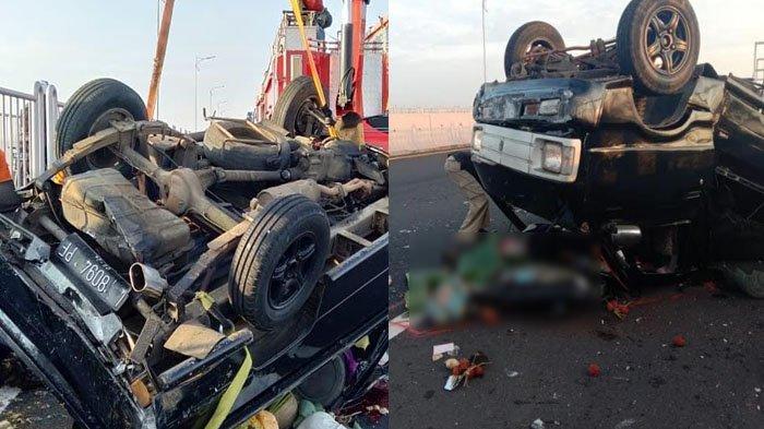 Ditabrak dari Belakang, Mobil Pikap Tabrak Gadril, Terbalik di Jembatan Suramadu, 1 Penumpang Tewas