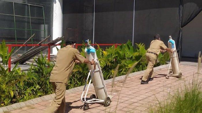 Sebanyak 100 Oksigen Konsentrator di RS Lapangan Tembak Surabaya Disiapkan Pemkot