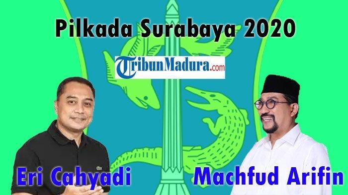 Pilkada Surabaya 2020 antara Eri Cahyadi dengan Machfud Arifin
