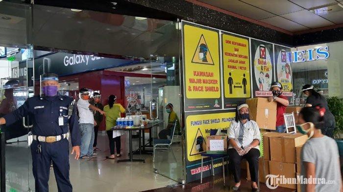 Mall di Surabaya ini Wajibkan Pengunjung dan Karyawan Pakai Face Shield saat Pandemi Covid-19