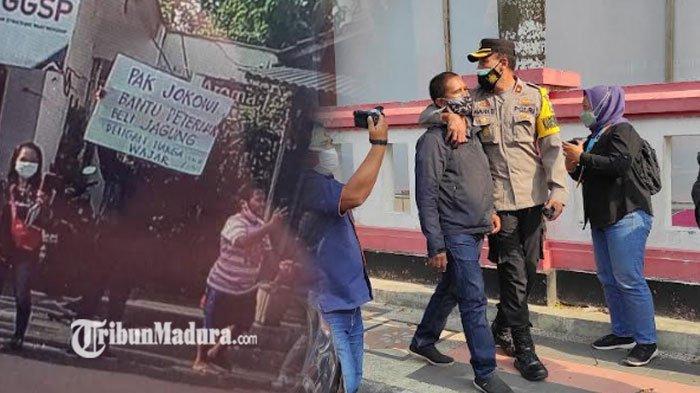 Kondisi Pria yang Bentangkan Poster saat Presiden Jokowi Berkunjung di Blitar, ini Penjelasan Polisi