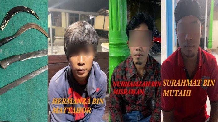 BREAKING NEWS - Tiga Tersangka Pembacokan Bermodal Celurit dan Parang di Sumenep Ditangkap Polisi