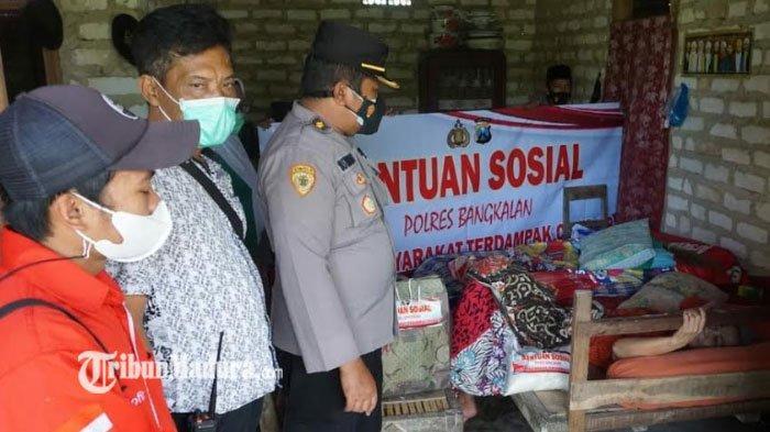 Kapolres Bangkalan AKBP Alith Perintahkan Polsek Sebarkan Bantuan Sembako di Tengah PPKM Darurat