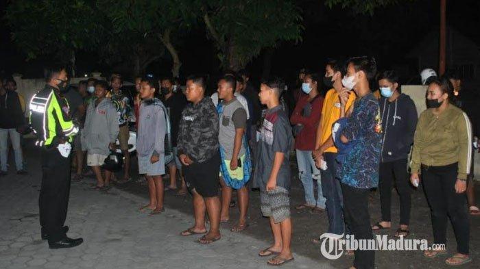 Aksi Kejar-kejaran Polisi Vs Remaja Balap Liar di Kabupaten Kediri, 35 Sepeda Motor Diamankan