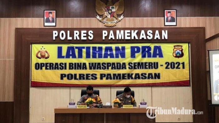 Polres Pamekasan Gelar Pra Operasi Bina Waspada Semeru 2021, Polisi Akan Tindak Kelompok Radikalisme