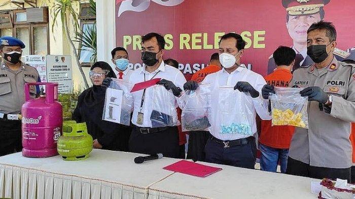 Polres Pasuruan Tangkap 4 Pengoplos Gas Elpiji, Suntikkan Gas Elpiji Subsidi 3 Kg ke Tabung 12 Kg