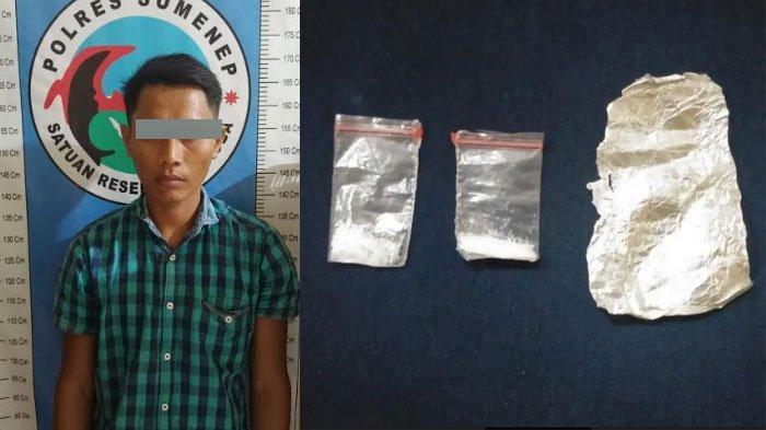 Budak Sabu di Sumenep Dibekuk Polisi, Sembunyikan Dua Poket Sabu di Gulungan Kertas Aluminium Foil