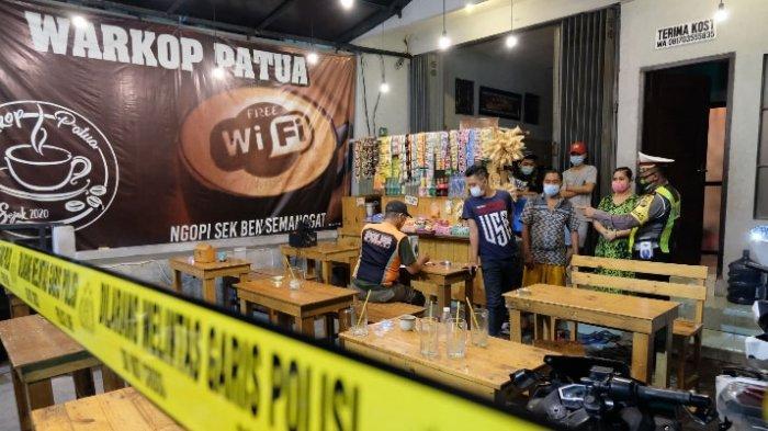 Jelang PSBB Jawa-Bali, Razia Prokes di Surabaya Digaungkan Lagi, Warkop Bandel Dipasang Police Line
