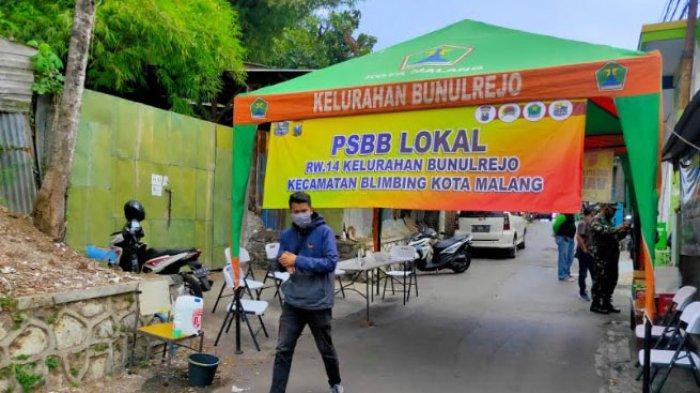 31 Warga Positif Covid-19, 1 RW di Bunulrejo Kota Malang Terapkan Pembatasan Sosial Berskala Lokal