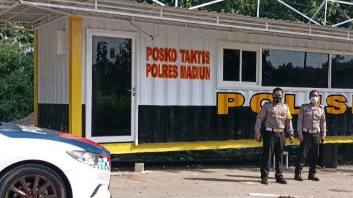 Larangan Mudik Lebaran 2021, Polisi Dirikan Posko Penyekatan di Perbatasan Madiun-Nganjuk