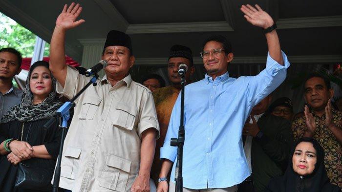 Jika Prabowo Maju di Pilpres 2024 Peluang Menangnya Diprediksi Berkurang, Sandiaga Uno Berpeluang