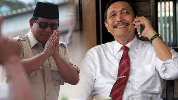 Terbongkar Isi Percakapan Prabowo dan Menteri Luhut, Bahas Tujuan ke Luar Negeri Hingga Soal Pemilu