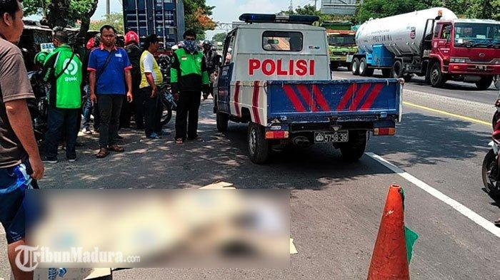 Motornya Tersenggol dan Jatuh, Pria Surabaya ini Tewas Usai Dilindas Truk, Jadi Korban Tabrak Lari