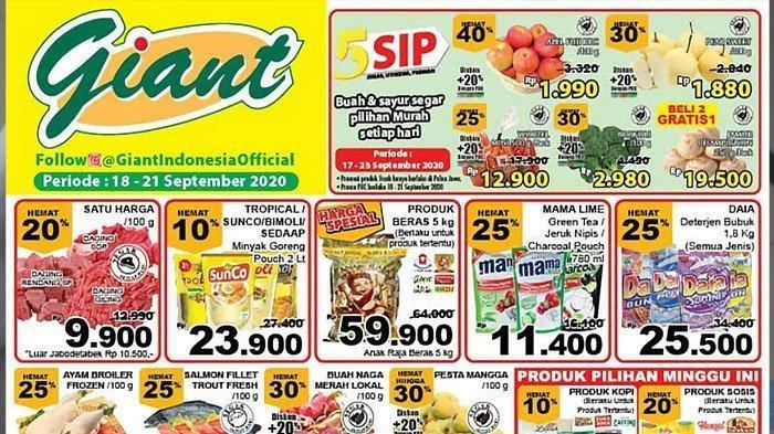 Katalog PromoGiantJumat 18 September 2020, Diskon Harga Ayam, Salmon, Buah Naga dan Minyak Goreng