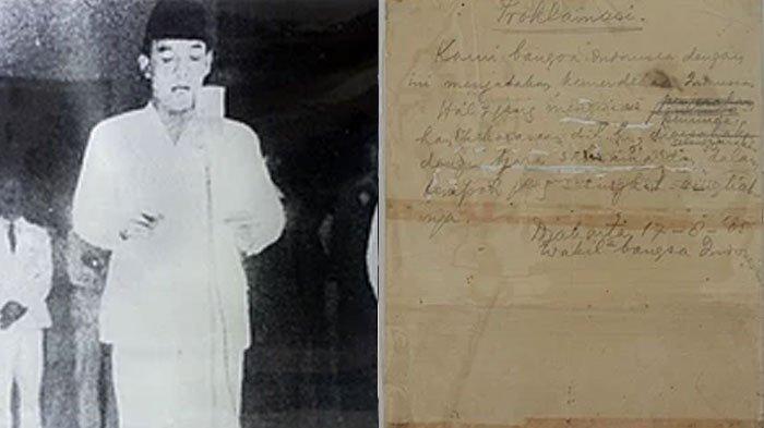Naskah Proklamasi Ternyata Sempat Dibuang di Tempat Sampah, Sebelum Akhirnya Dibaca oleh Soekarno