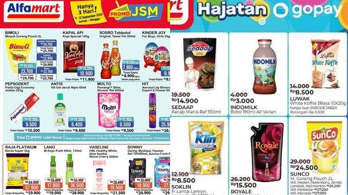 Katalog Promo Alfamart di Akhir Pekan pada 11 September 2020, Promo ShopeePay dan GoPay Menunggu
