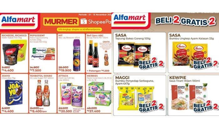 Katalog Promo Alfamart Hari iniJumat 6 November 2020, Promo Murah Meriah hinggaBeli 2 Gratis 2