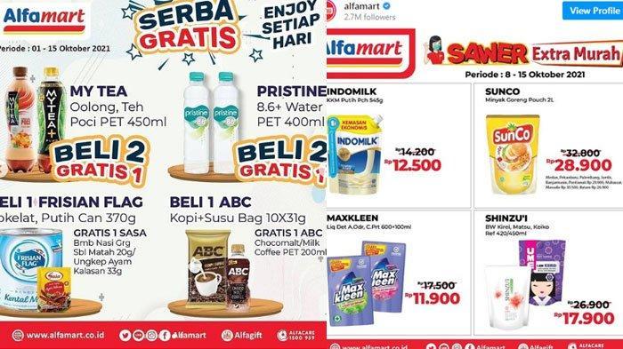 Promo Alfamart Kamis 14 Oktober 2021, Mulai Promo Gratis, Minyak Goreng Murah Hingga Promo Sawer