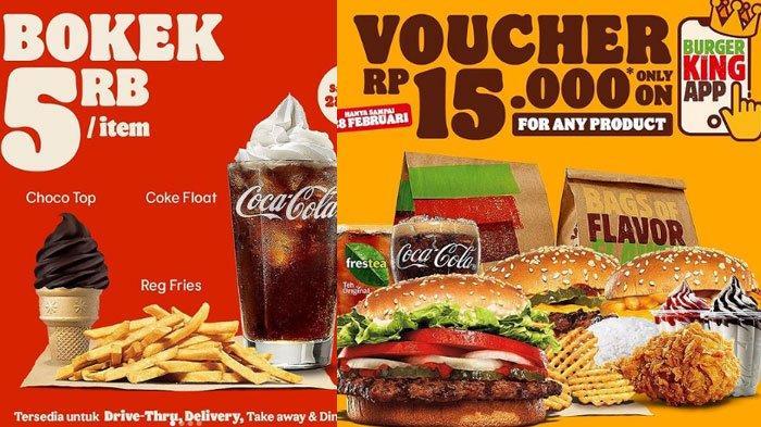 Promo Burger King Terbaru pada Februari 2021, ada Promo Bokek Mulai Rp 5 Ribuan Hingga Diskon 50%