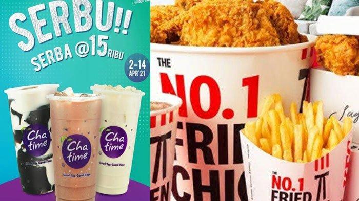 PROMO Chatime KFC Burger King hingga Pizza Hut April 2021, Ada Promo Bokek 5 Ribu dan Serba 15 Ribu
