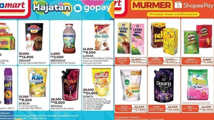 Katalog Promo dan Diskon Alfamart 10 September 2020, Makin Hemat Bayar Pakai GoPay dan ShopeePay