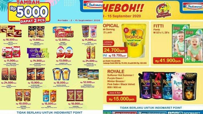 Promo Minyak Goreng Murah Dan Tambah Rp 5000 Dapat 2 Pada Katalog Promo Indomaret 15 September 2020 Tribun Madura