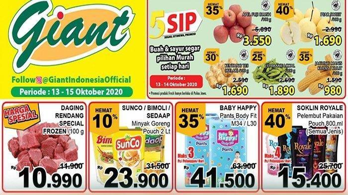 Katalog PromoGiantKamis 15 Oktober 2020, Diskon Harga Ayam Kampung, Cumi-Cumi hingga Bawang Putih