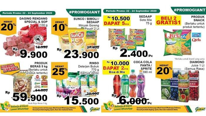 Katalog Promo Giant Periode 22 24 September 2020 Ada Diskon Harga Gula Deterjen Rinso Rp 15 500 Halaman All Tribun Madura