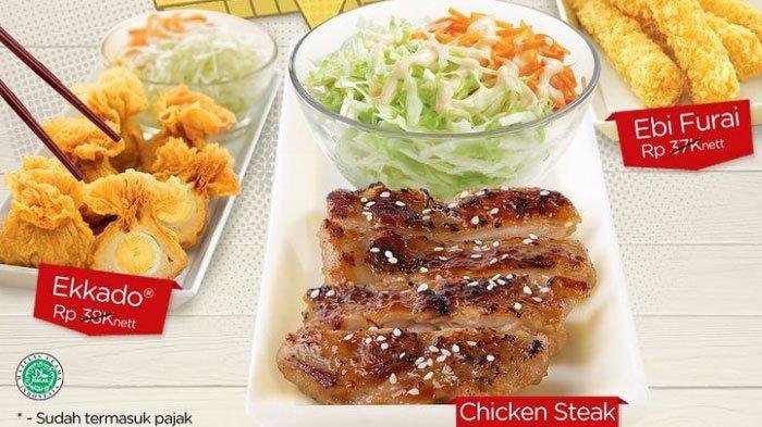Promo HokBen Spesial Rabu, Bebas Pilih Menu Chicken Steak, Ekkado, atau Ebi Furai Cuma Rp 30 Ribu